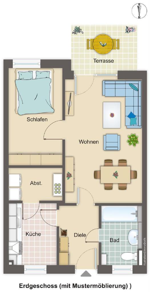 Vermietete Zwei-Zimmer-Wohnung in Hemmoor