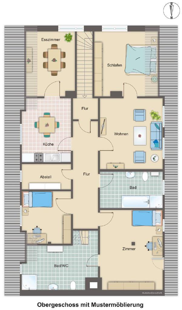 Teilvermietetes Wohnhaus mit viel Platz in Wanna