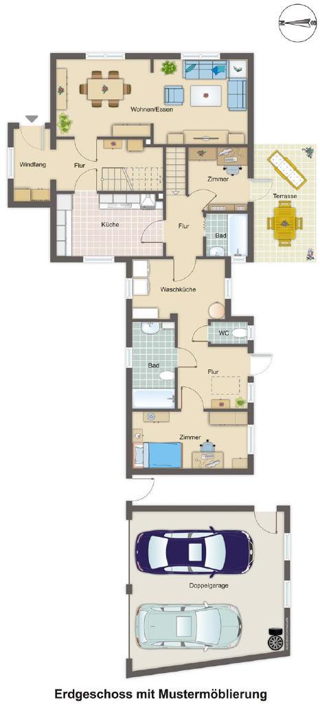 Einfamilienhaus mit Feriensommerwohnung in Holte-Spangen
