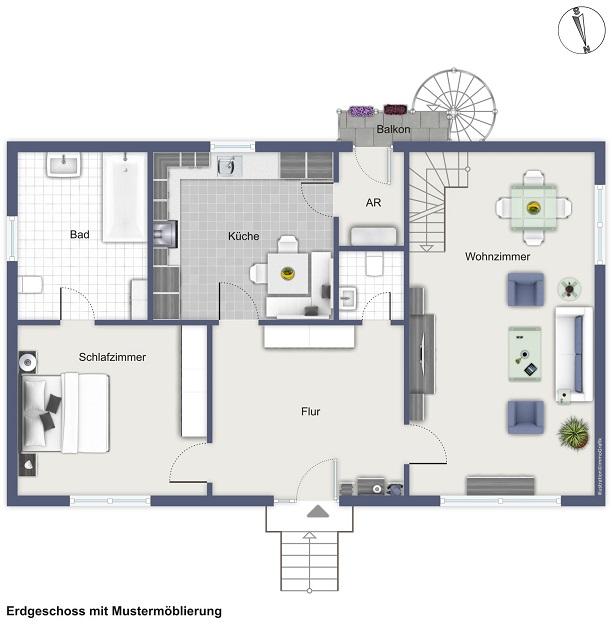 Potenzial! Einfamilienhaus mit Nebengebäude in Großenwörden