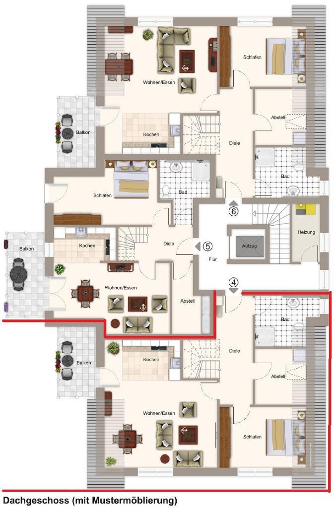 Neubau: Dachgeschoss-Eigentumswohnung in Jork