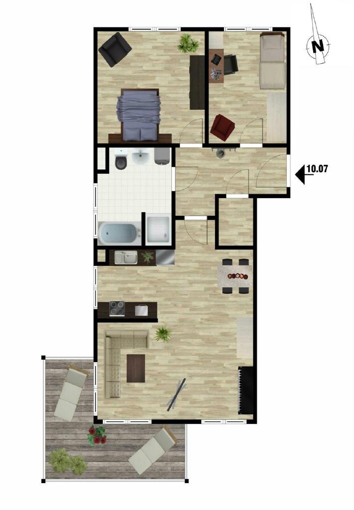 Courtagefrei: Moderne 3-Zimmer-Wohnung in Buxtehude