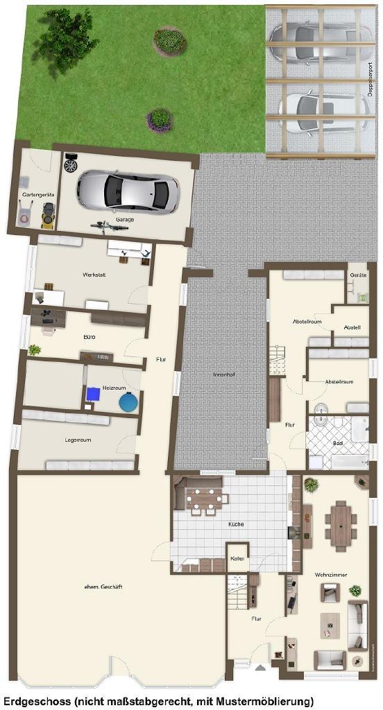 Ehemaliges Wohn- und Geschäftshaus in Wanna
